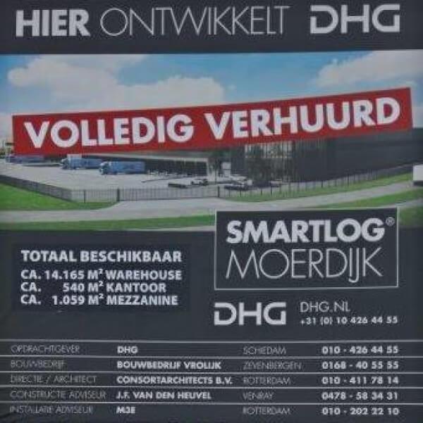 DHG VERHUURT 15.764 M² SMARTLOG MOERDIJK AAN BASE LOGISTICS